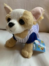 "WEBKINZ CHIHUAHUA * Used Stuffed Plush Animal * 8"" Wearing Baseball Outf... - $37.40"