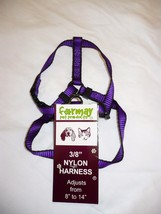 Formay Nylon Pet Harness 3/8 Inch Dog or Cat Purple W Black  8 to 14 Inch - $12.86