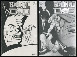 Bionic Dog Comic Set 1-2 Lot Hugo Rex Tonyefa Oyake Six Million Dollar S... - $50.00