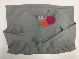 HANNA ANDERSSON Gray Cotton Long Sleeve Floral Empire Waist Dress Sz 14 ... - $30.73