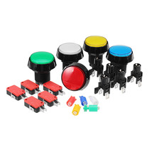 45MM Red Blue Yellow Green White LED Push Button for Arcade Game Console... - $7.70