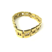 M's stainless steel Men's Stainless Steel Gold Plated Bracelet - $59.00