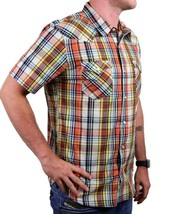 NEW LEVI'S MEN'S CLASSIC COTTON CASUAL BUTTON UP PLAID BURNT PRD-3LYSW6102 image 2
