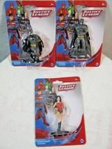 DC Comics Justice League Batman Wonder Woman Figurine/Cake Toppers Set - $10.36