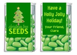 Christmas Holiday Tree Seeds Mint Mints Party Favors Labels Personalized... - $3.96+