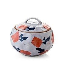 Mini Ceramics Saucepan Isolating Water Stew Soup Inner Pot With Lid #Radish - $27.99