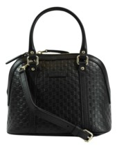 GUCCI 449654 GG Microguccissima Mini Dome Leather Crossbody Bag, Black - $1,320.00