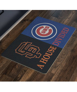 House Divided Sign San Francisco Giants Chicago Cubs Welcome Doormat Man... - $37.00