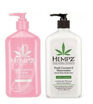 Hempz 2 pack Sweet Jasmine & Rose Moisturizer + Fresh Coconut Watermelon 17 Oz  - $23.75