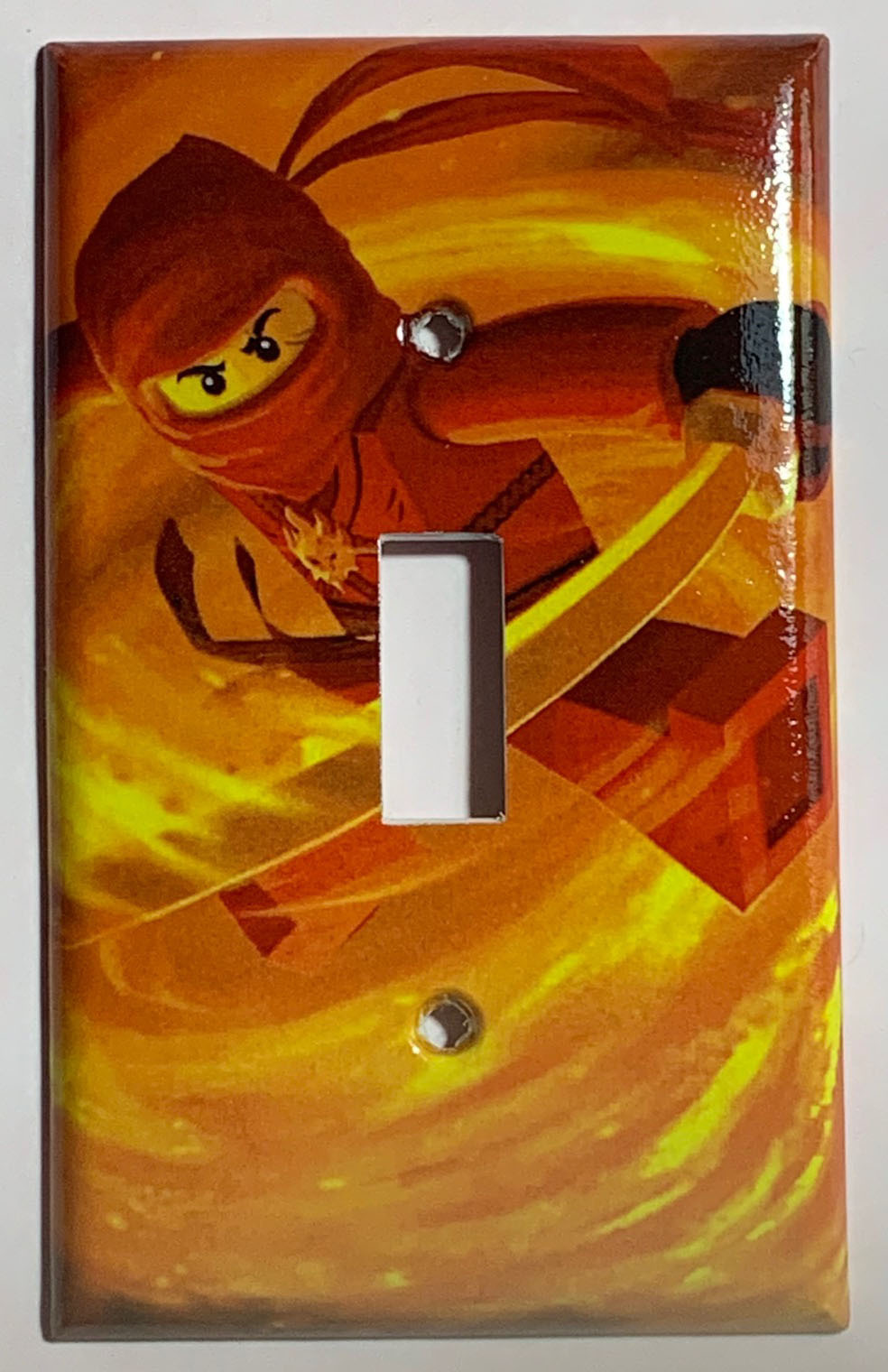 Ninjago KAI red Light Switch Outlet duplex wall Cover Plate Home Decor
