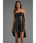 New Women's Genuine Lambskin Black Leather Sleeveless Party Wear Vintage... - £132.74 GBP