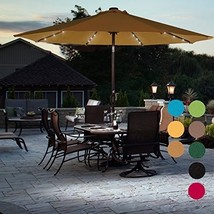 Sundale Outdoor Solar Powered 32 LED Lighted Patio Umbrella Table Market... - $139.40 CAD