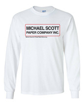 464 Michael Scott Paper Company Long Sleeve Shirt funny Scranton tv show office - $19.99+