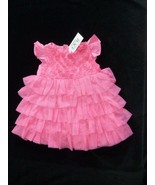 BABY GIRL SUMMER SPRING CLOTHES OUTFIT  DRESS  RUFFLE TULLE PINK TCP PLA... - $19.79