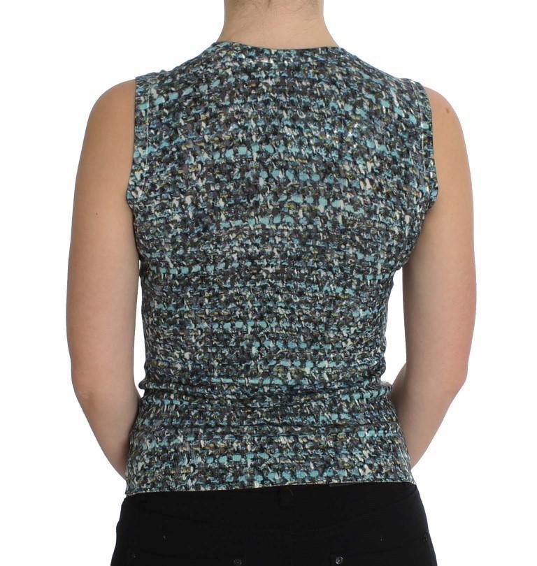 Dolce & Gabbana Blue Wool Sweater Sleeveless Pullover