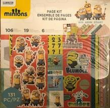 MINIONS Page Kit: Stickers, Die Cuts 12x12 Papers Bob Kevin Stuart 131 P... - $15.20