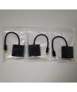 3 MiniDP to VGA Cable Mini DisplayPort to VGA Male to Female Converter - $12.59