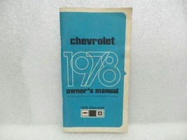 1978 Chevrolet Chevy Owners Manual 16069 - $18.76