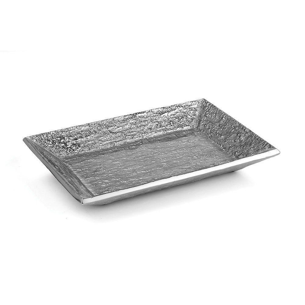Michael Aram Block Platter Small Silver NEW