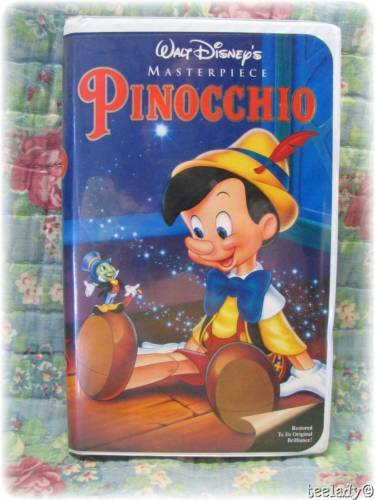 Walt Disney Pinocchio Masterpiece Classic 1993 VHS Video ...