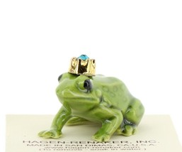 Birthstone Frog Prince December Simulated Zircon Miniatures by Hagen-Renaker
