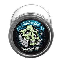 Fisticuffs Strong Hold Mustache Wax Leather/Cedar wood scent 1 OZ. Tin image 5