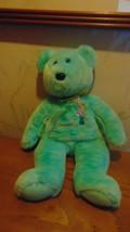 Vintage Ty Beanie Buddies Aqua Bear Very Soft - $4.05