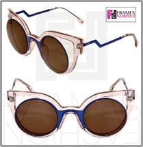 Fendi Paradeyes FF0137S Pink Blue Bronze Mirrored Opaque Sunglasses Optyl 0137 - $231.66
