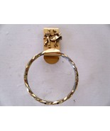 H31 Gold, twisted ring, square dance towel holder with 3D dancing couple  - $7.91