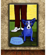 george rodrigue Art oil painting printed on canvas home decor The Blue Dog  - $16.99