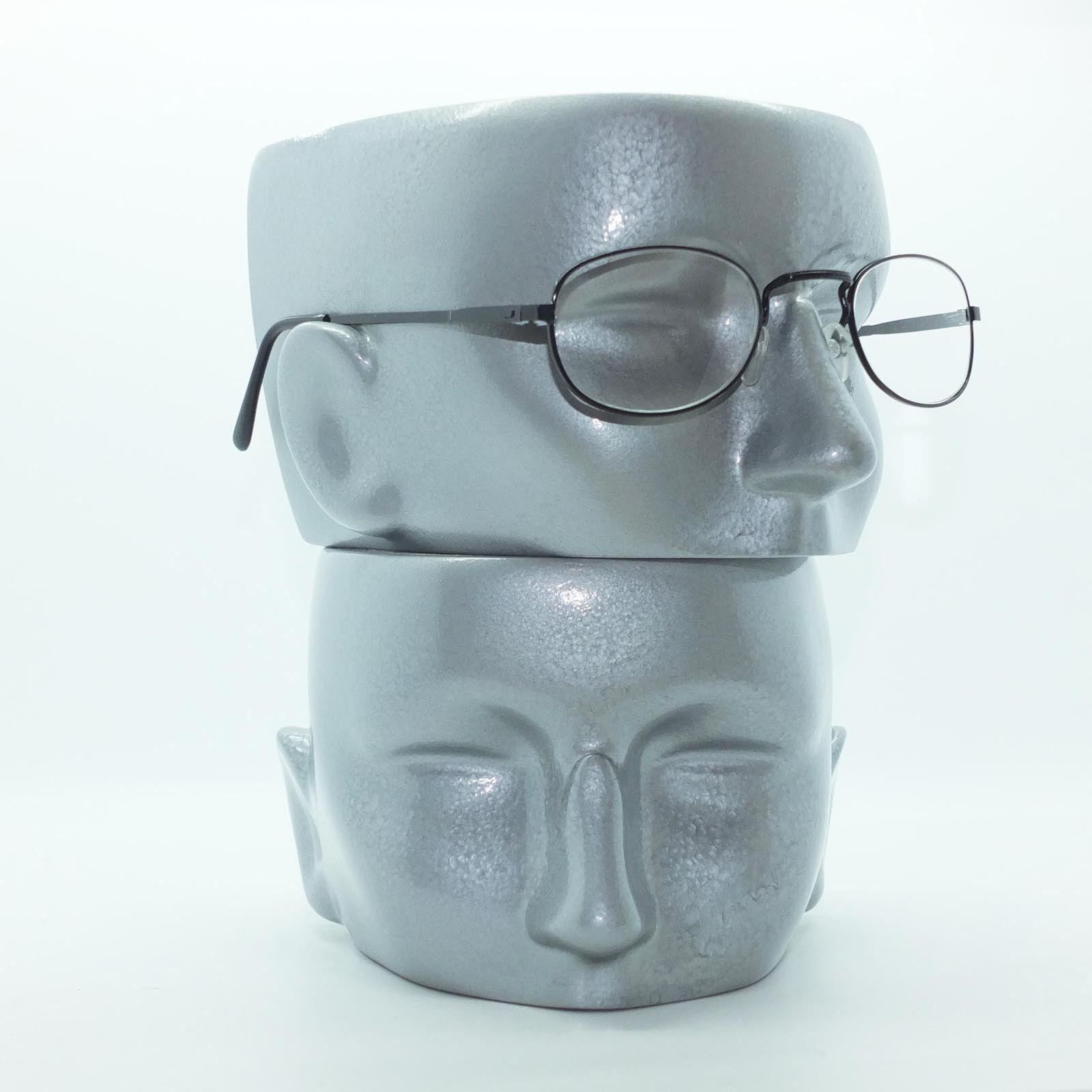 1008f3e4ad Reading Glasses Matte Black Metal Petite Oval Square Bridge Frame +3.00 Lens