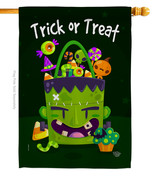 Sweet Monster Treat - Impressions Decorative House Flag H192284-BO - $40.97
