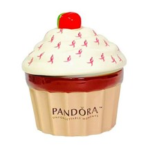 Pandora Ltd Ed Susan Komen Cupcake Jewelry Trinket Box Cancer Awareness - $18.00