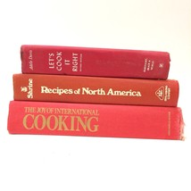 Red Mini Cookbook Book Stack Vintage Cloth Bound Retro Recipes Kitchen D... - $17.10