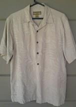caribbean joe 100% silk mens shirt size large - $9.90