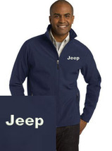 Jeep Navy Blue Embroidered Port Authority Core Soft Shell Unisex Jacket NEW - $39.99
