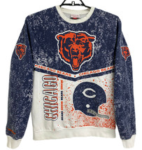 Vintage Mitchell & Ness men's sweatshirt Chicago Bears print long sleeve... - $48.06