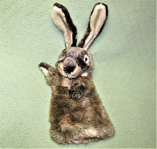 "FOLKMANIS JACK RABBIT HAND PUPPET 19"" FULL BODY REALISTIC STUFFED ANIMAL... - $24.75"