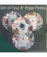 """Set of Four 8"""" Poker Plates NIB - $29.69"""