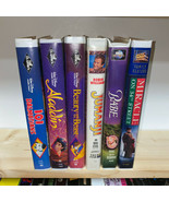 Big Box Family Movie VHS Lot 101 Dalmatians Aladdin Beauty and the Beast... - £13.93 GBP