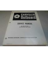 1983 Chrysler Fuoribordo Servizio Manuale 25 35 hp sia 3870 Fuoribordo O... - $18.41
