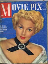 ORIGINAL Vintage April 1949 Movie Pix Magazine Lana Turner (detached cover) - $18.51