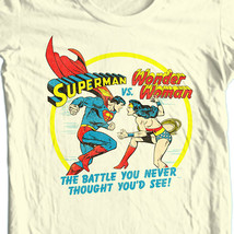 Superman vs Wonder Woman T Shirt retro nostalgic DC Comics graphic tee SM1937 image 1