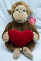 Russ Heartford The Cute Monkey With Red Heart Plush Stuffed Animal Toy - $19.80