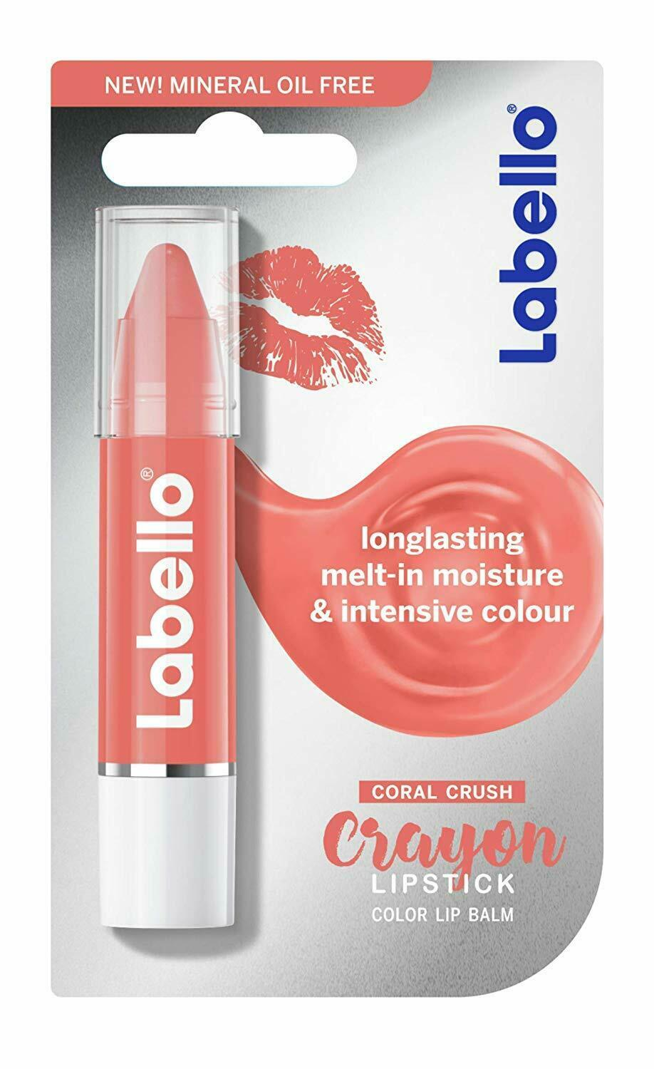 Primary image for Labello CORAL Crayon lip balm/ chapstick -1 pack - Made in Germany FREE US SHIP