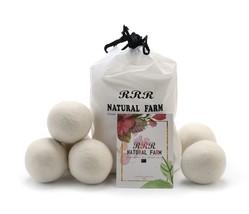 "Wool Dryer Balls Pack of 6 XL 2.8"" by RRR Natural Farm - 100% Organic Ne... - $10.05"