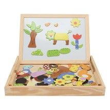 Wooden Magnetic Puzzle Kids Jigsaw Drawing Board(MULTI-A) - $16.45