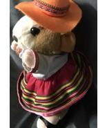 "Gemmy Hamster Mexican Spanish Dressed Girl Dress plush Doll 10"" Rare Gift! - $29.83"