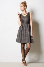 NWT ANTHROPOLOGIE GLISSADE SHIMMER DRESS by MOULINETTE SOEURS 6 - $76.49