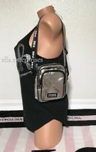 Victoria's Secret Pink Metallic Silver Black White Sport Crossbody Bag - $54.44